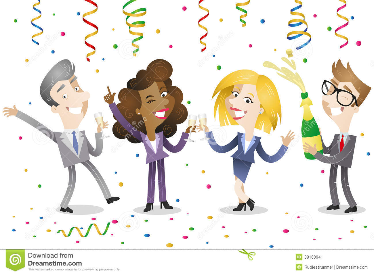 Business People Celebrating Stock Vector - Illustration of ...