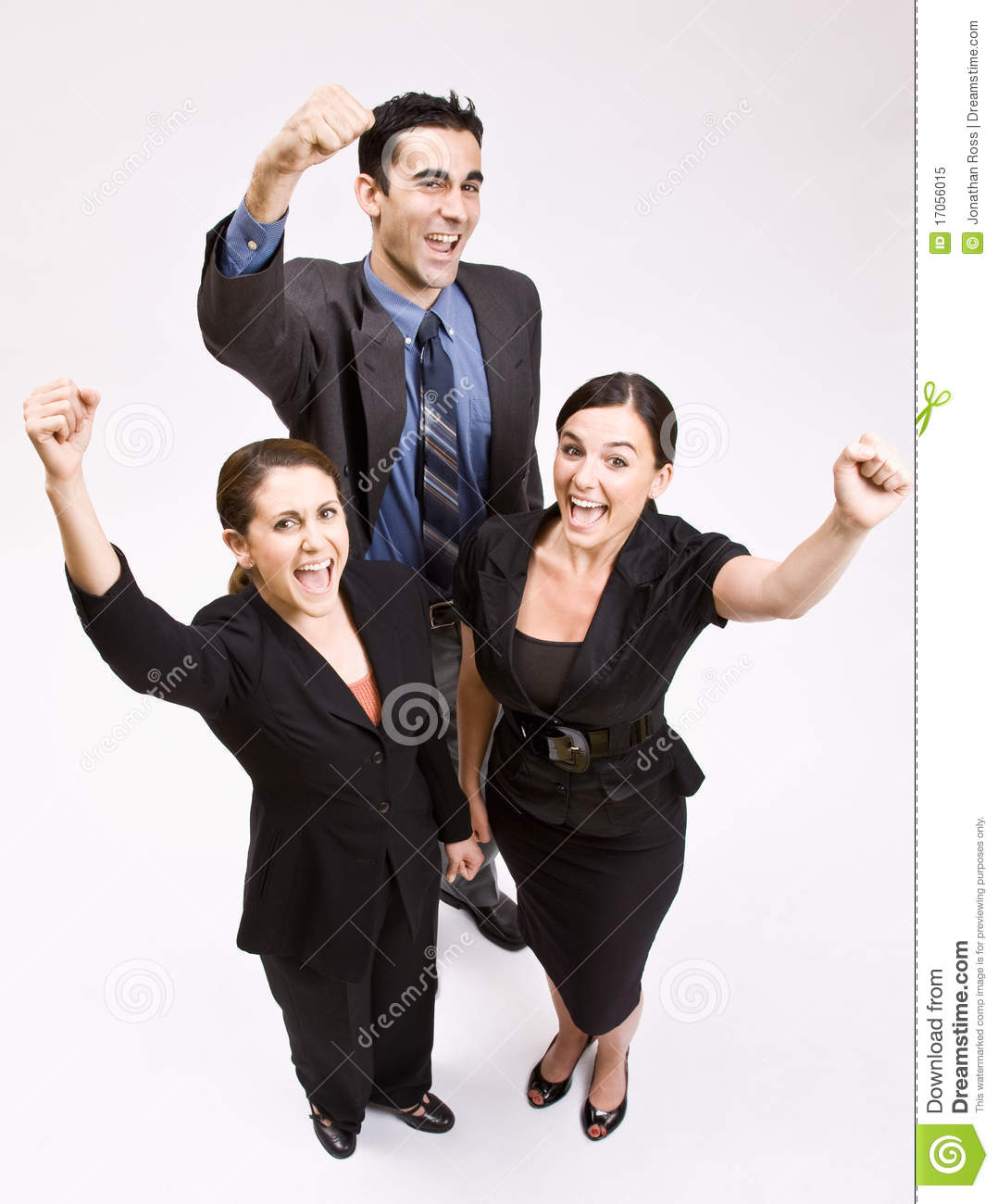 Cheering People Stock Images