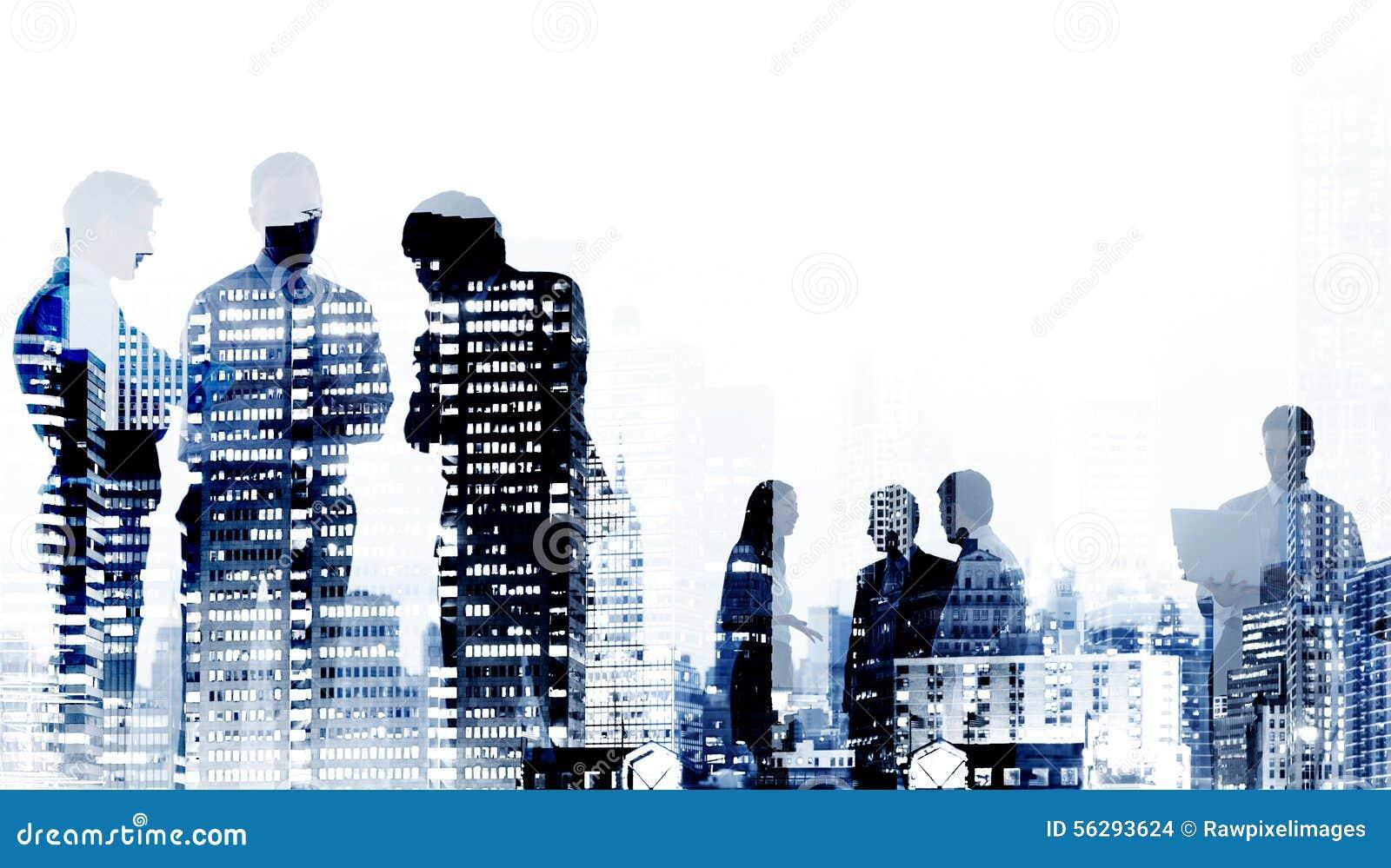 Business People Cityscape Buildings Corporate Concept ...