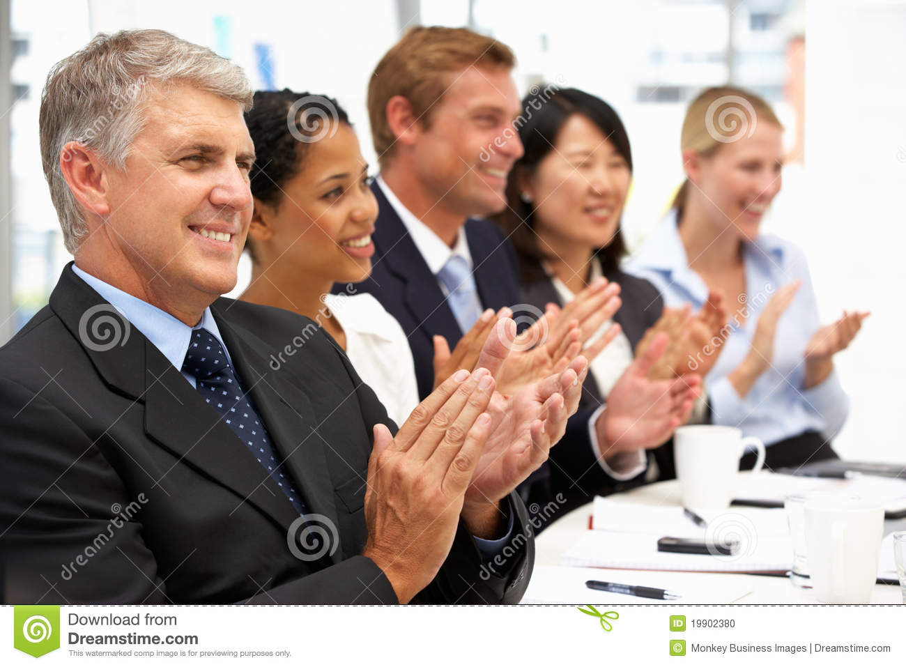 Business People Clapping Stock Photo Image 19902380