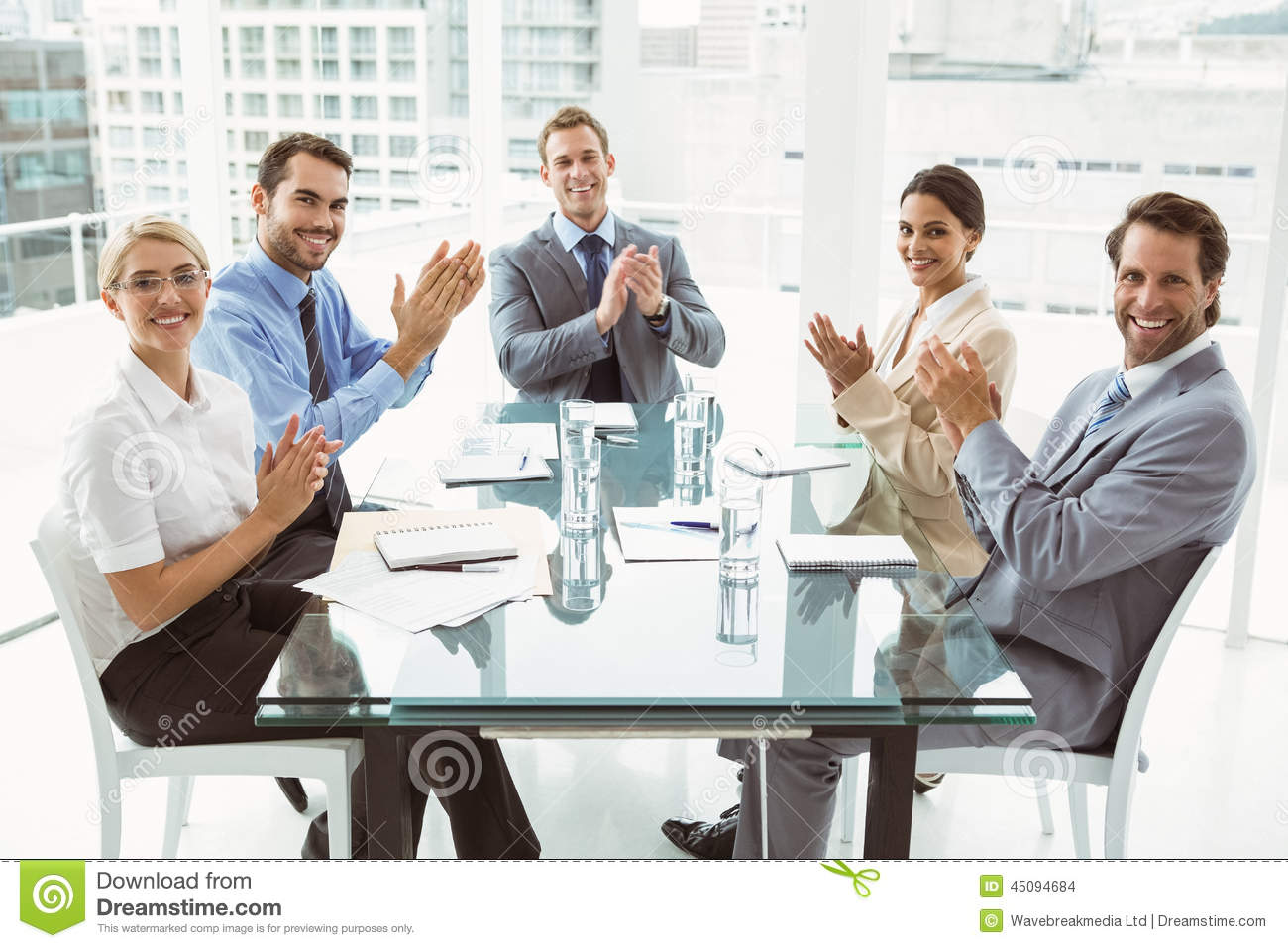 business people clapping hands in board room meeting stock clapping clip art emoji clapping clipart gif