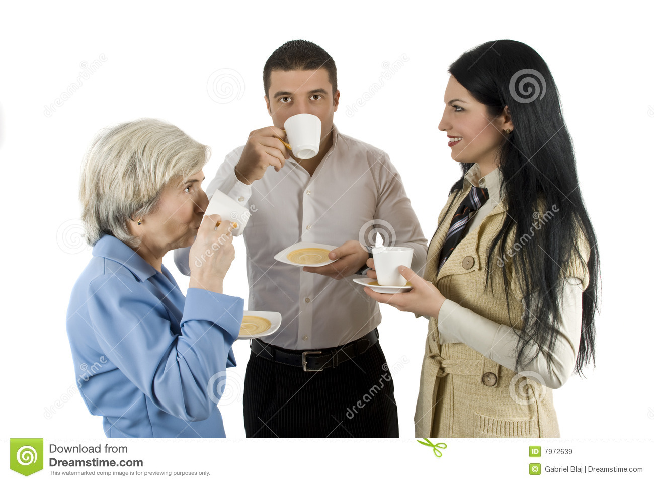 Business People At Coffee Break Stock Image - Image: 7972639