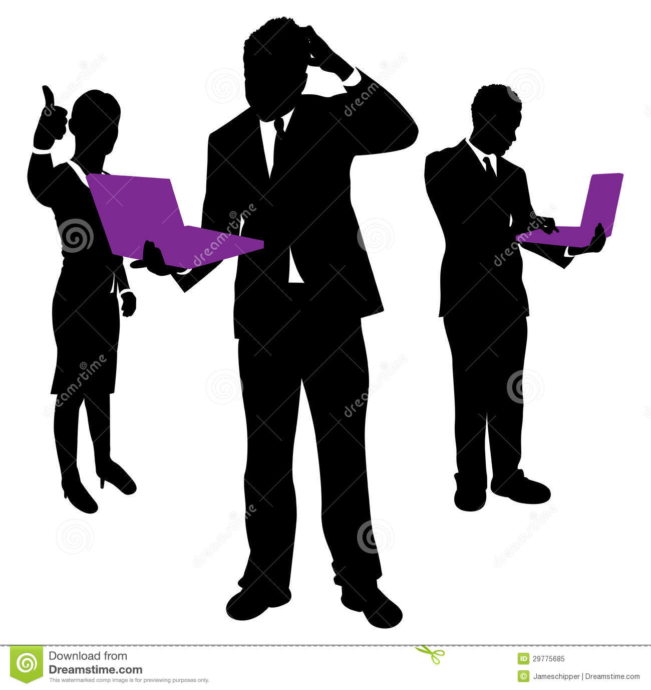business people confused stock vector illustration of grass 29775685