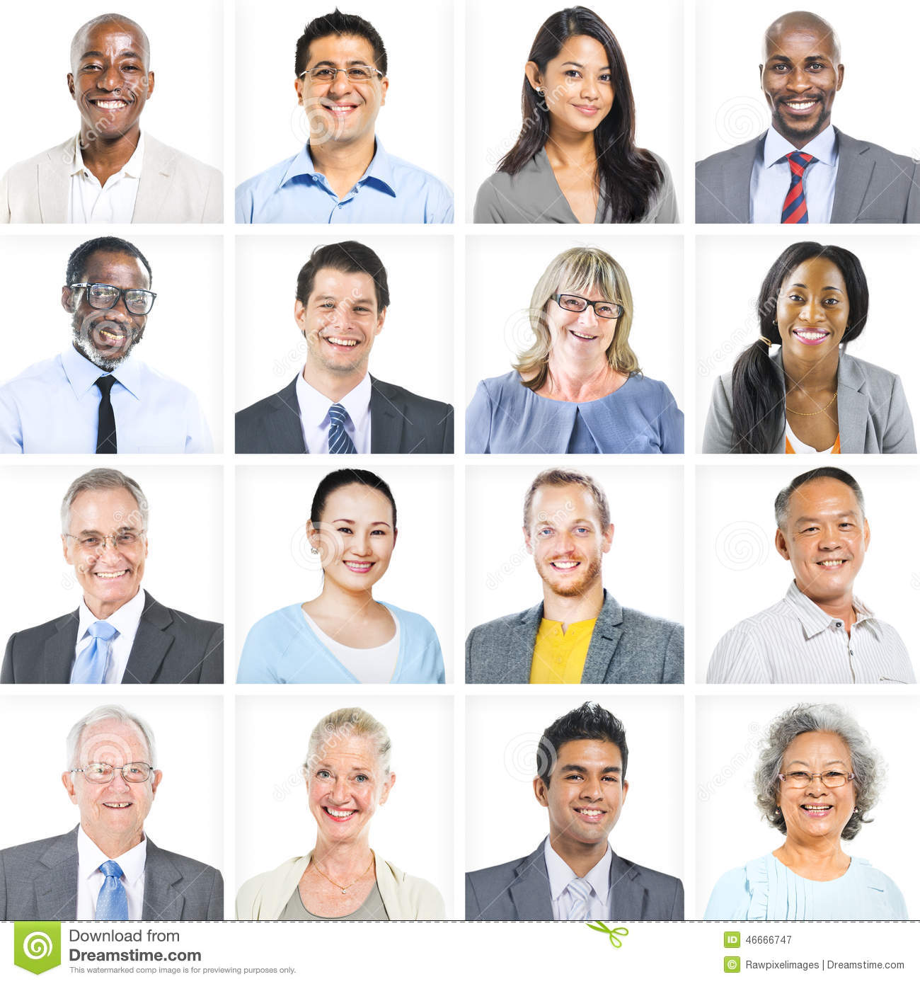 business people corporate set of faces concept stock image image