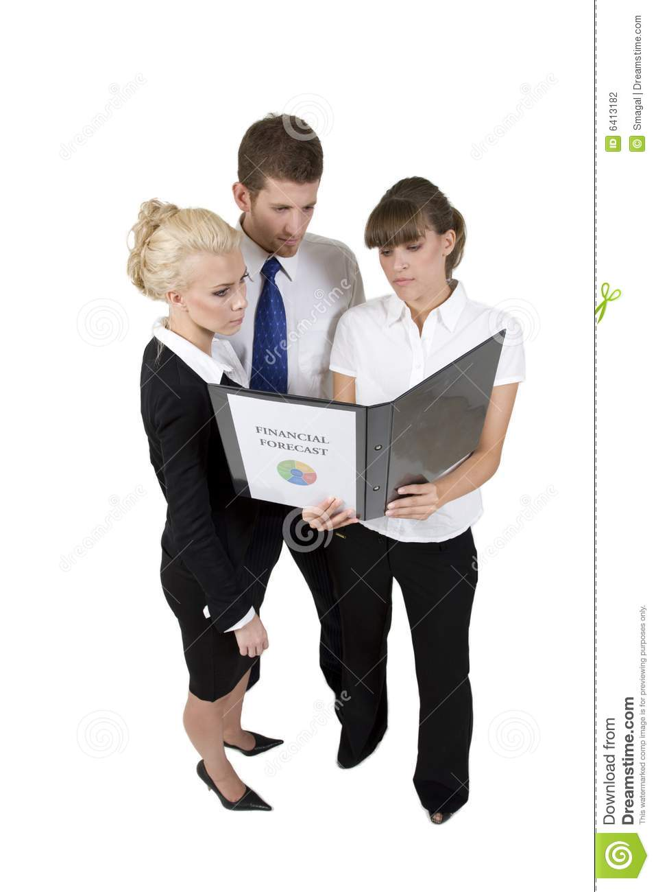 Business People Discuss Report Stock Photo - Image: 6413182