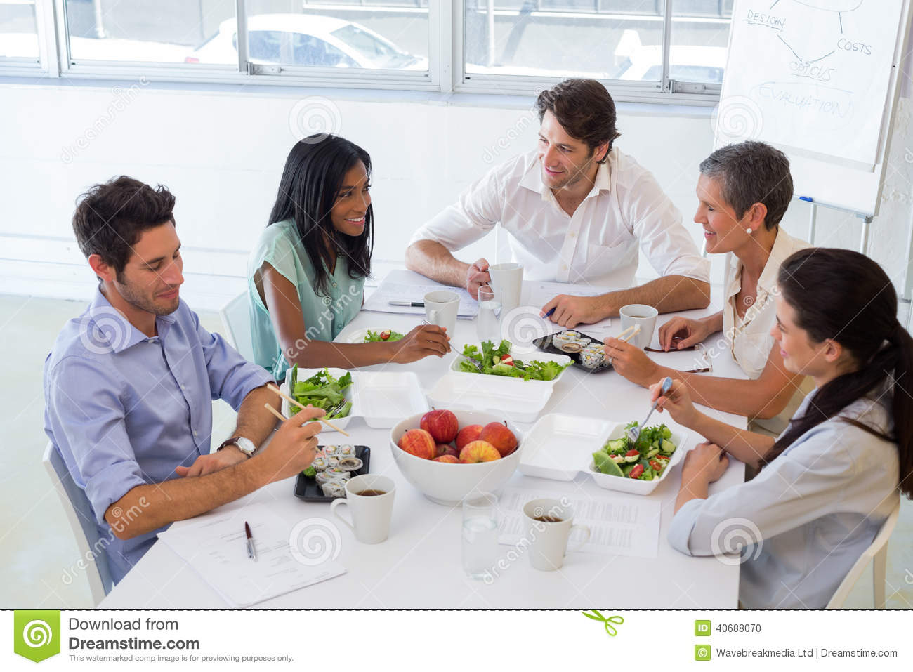 Business People Eating Lunch Together Stock Photo Image