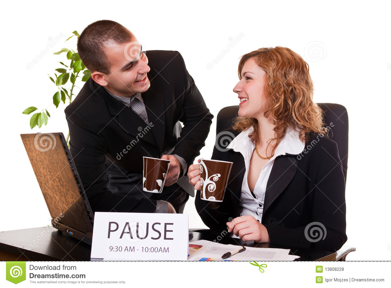 Business People Enjoying Coffee-break Royalty Free Stock ...