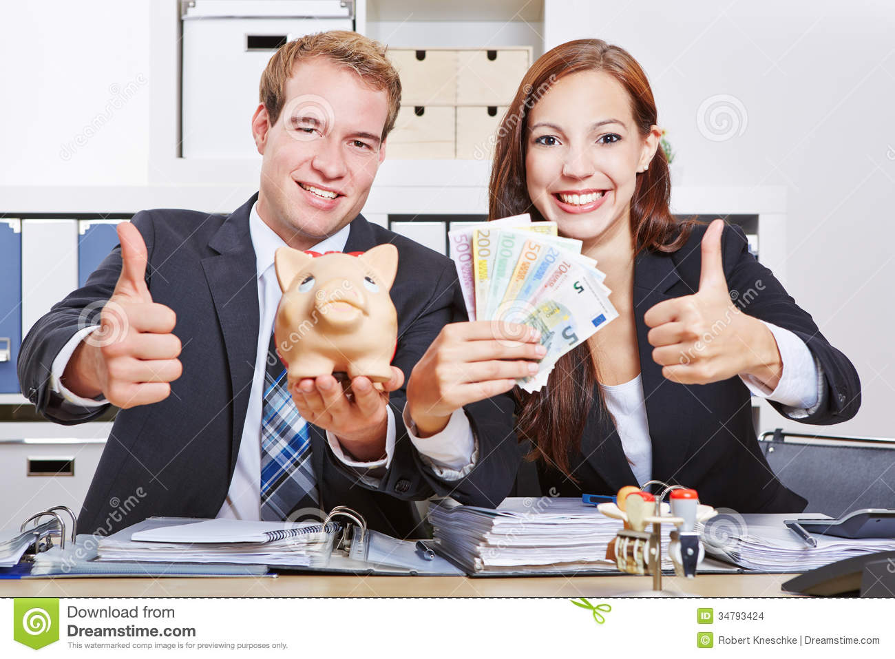 Business People With Euro Money Stock Photo - Image of ...