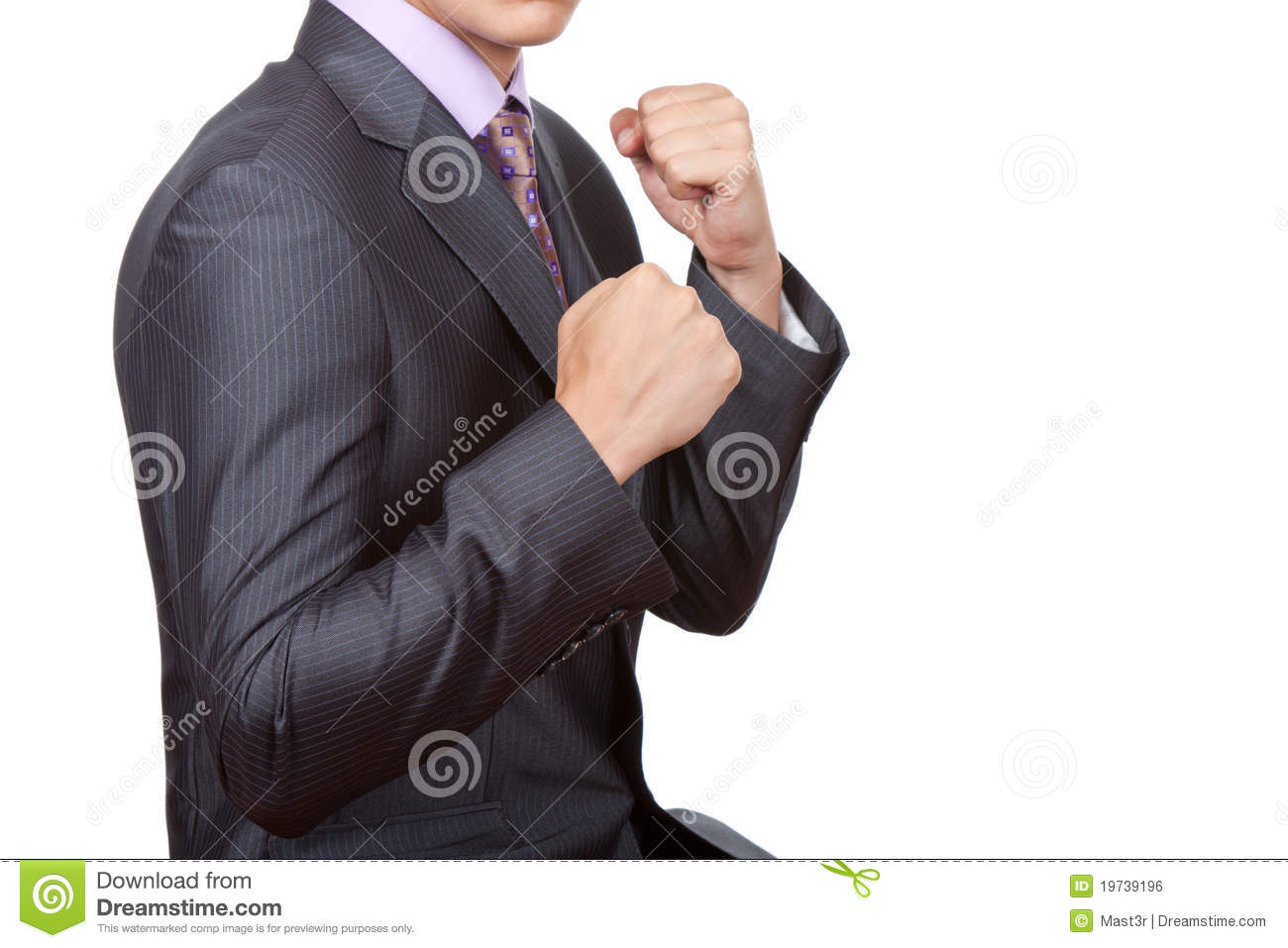 Business people fist