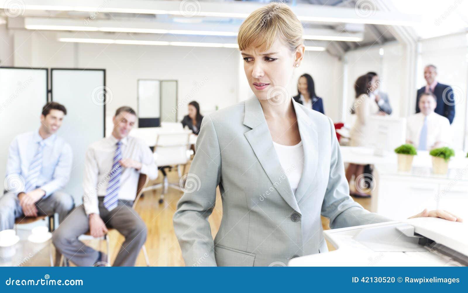 Business people getting bad mood