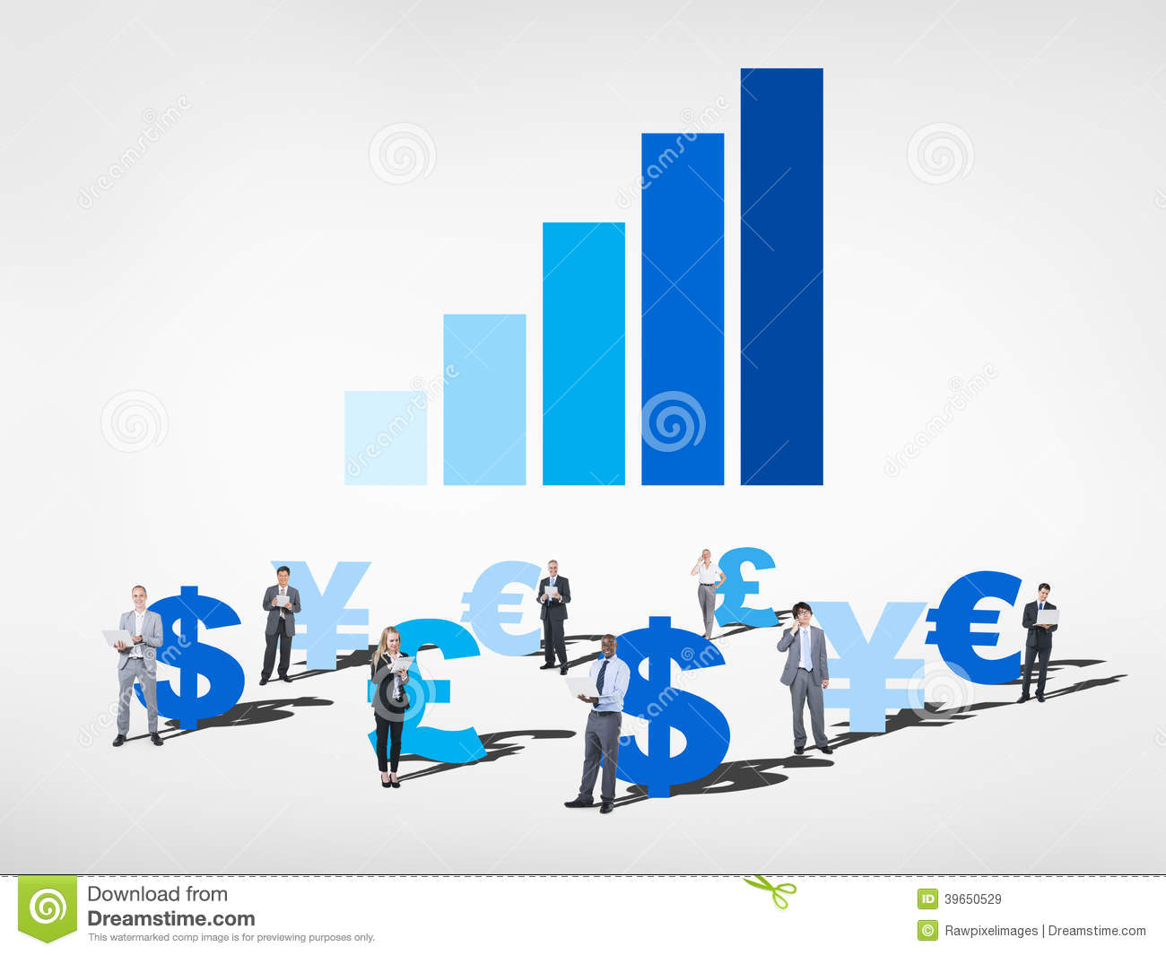 Business People With Global Currency Symbols Stock Image Image Of