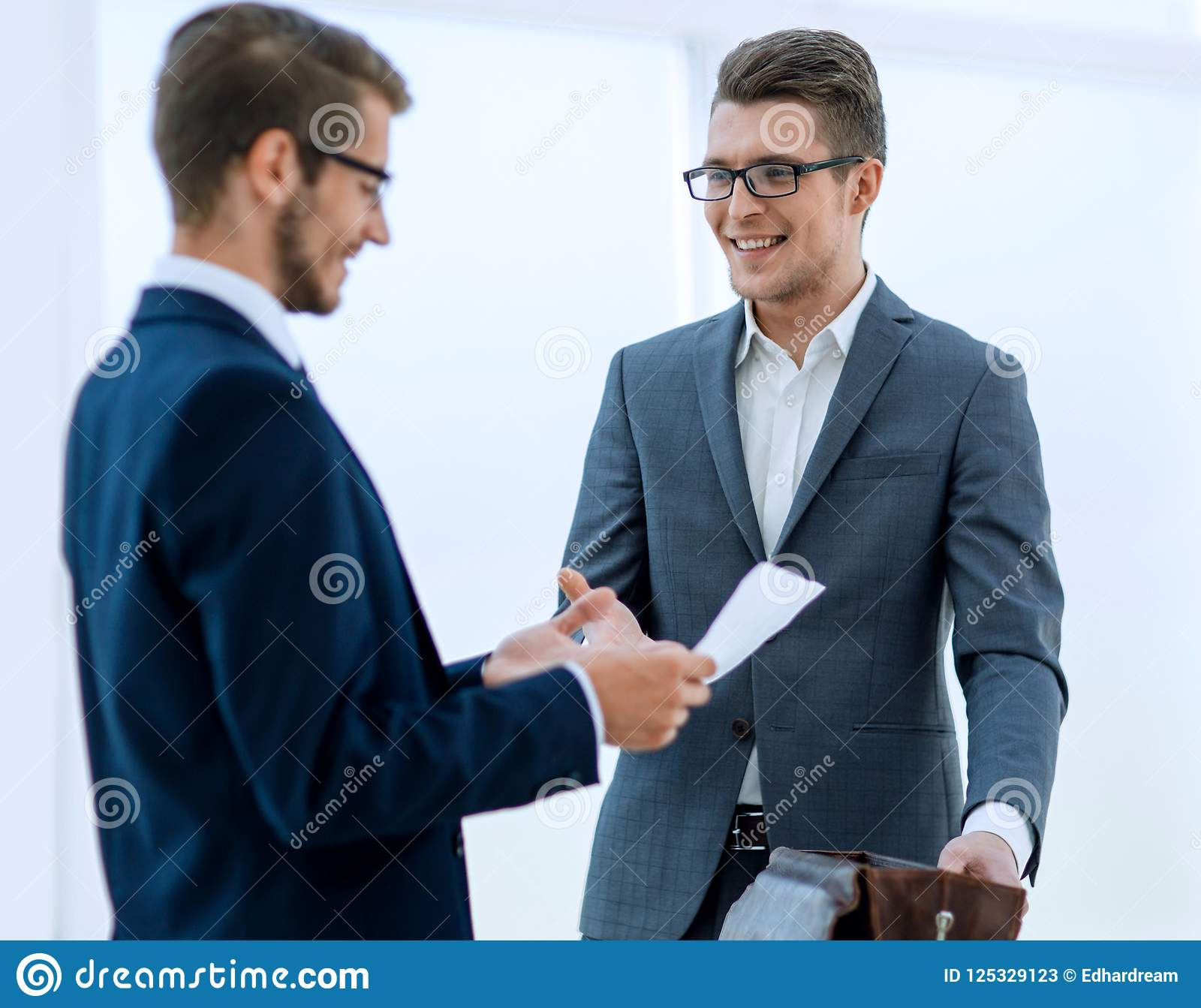 Business People Greet Each Other With A Handshake Stock Image
