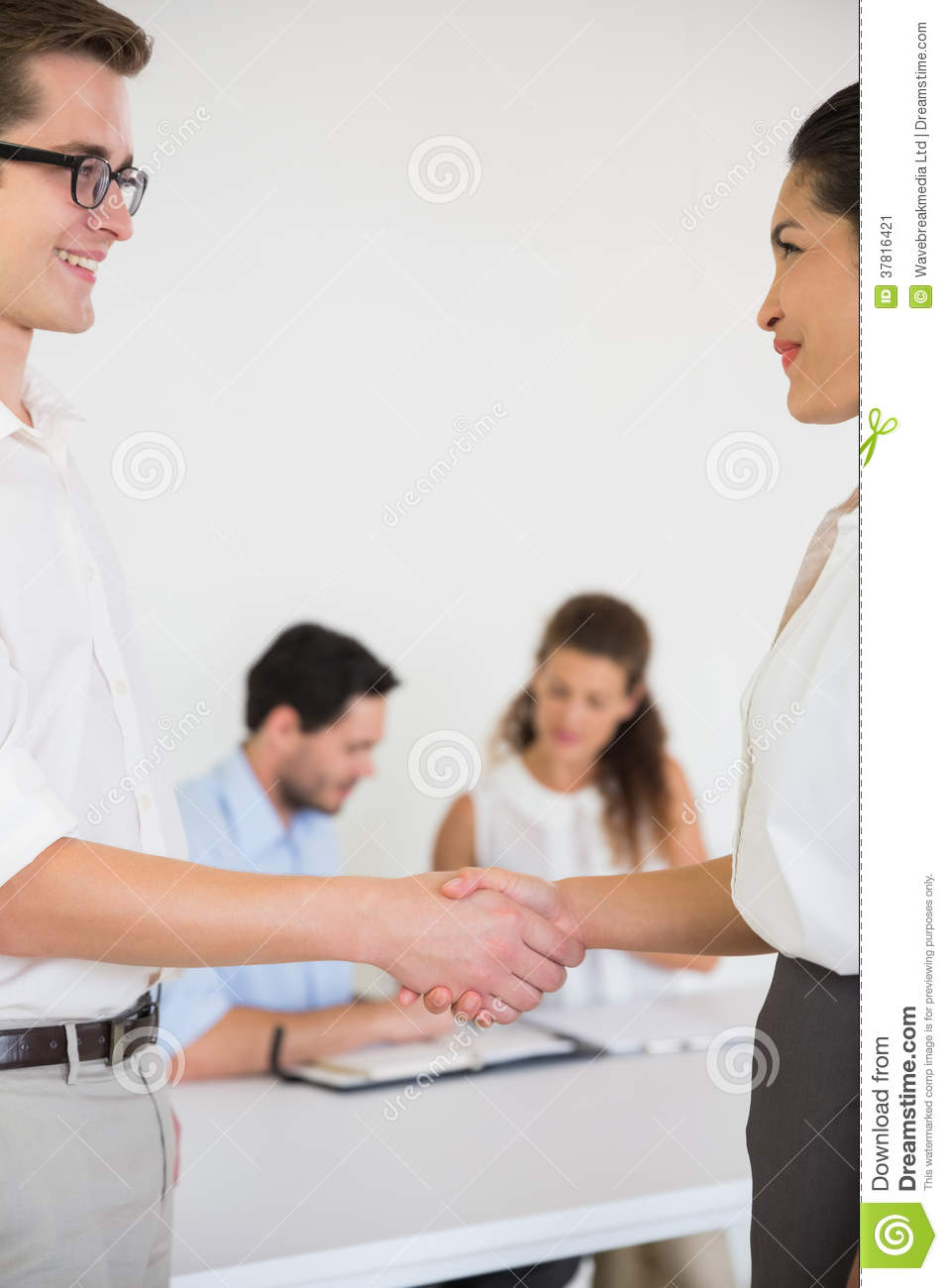 Business People Greeting Each Other Stock Image Image Of Standing