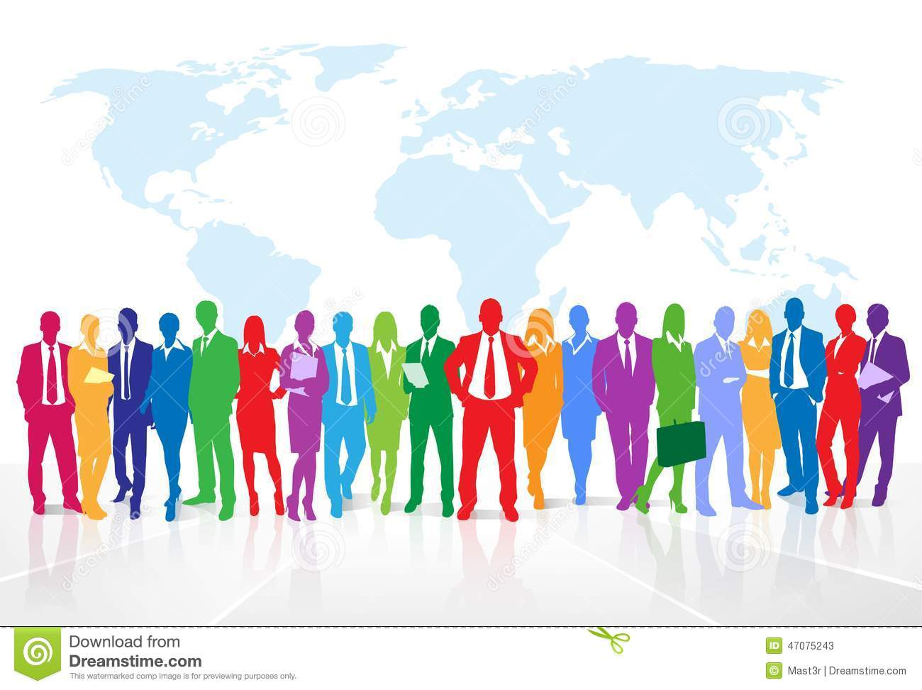 Business People Group Colorful Silhouette Concept Stock ... Colorful People