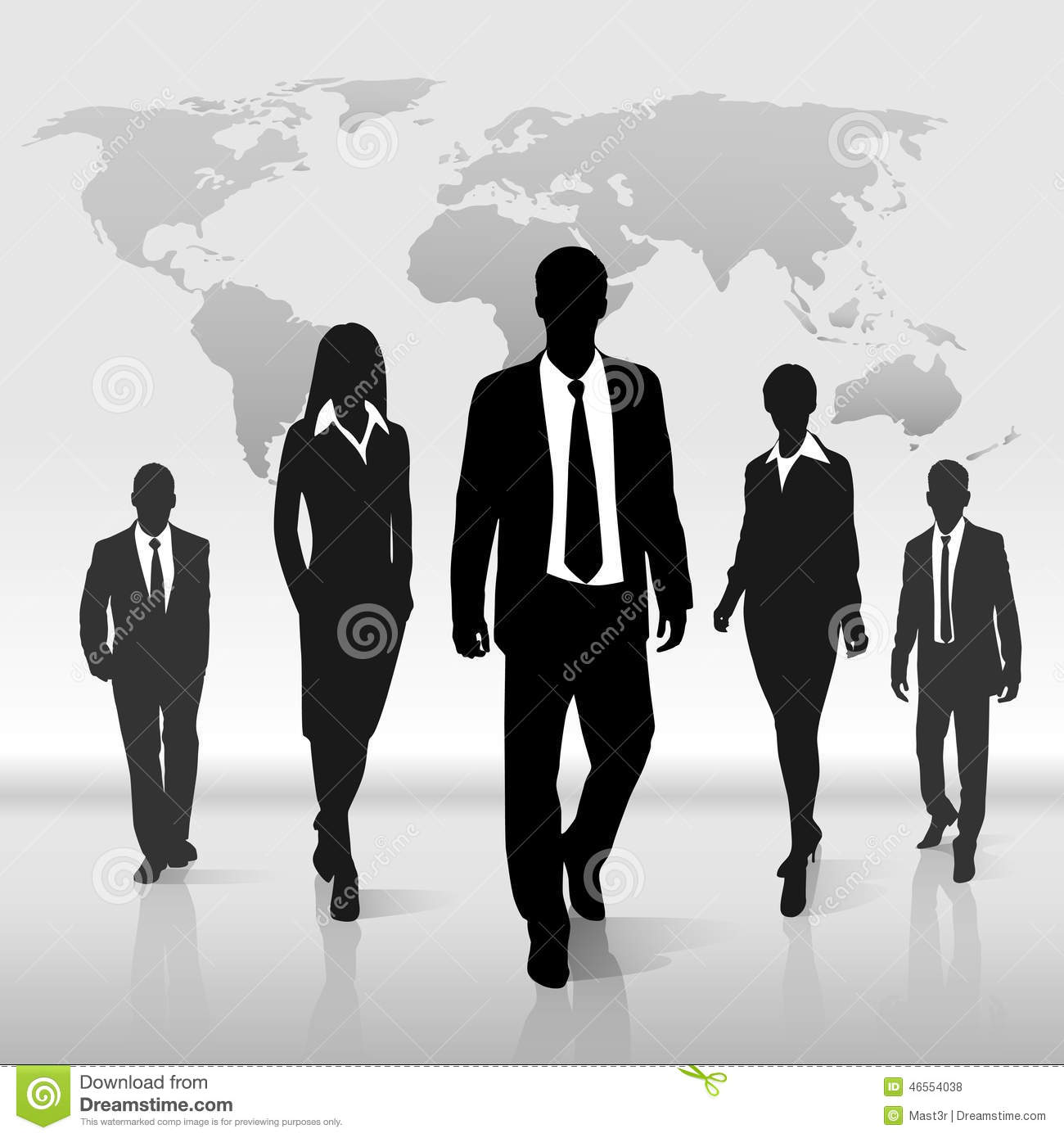 Free Images Black And White People Crowd Statue: Business People Group Walk Silhouette Over World Stock