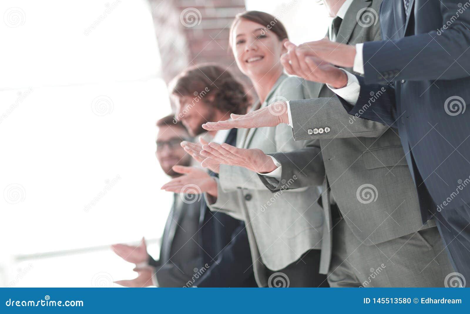 Business people hands applauding