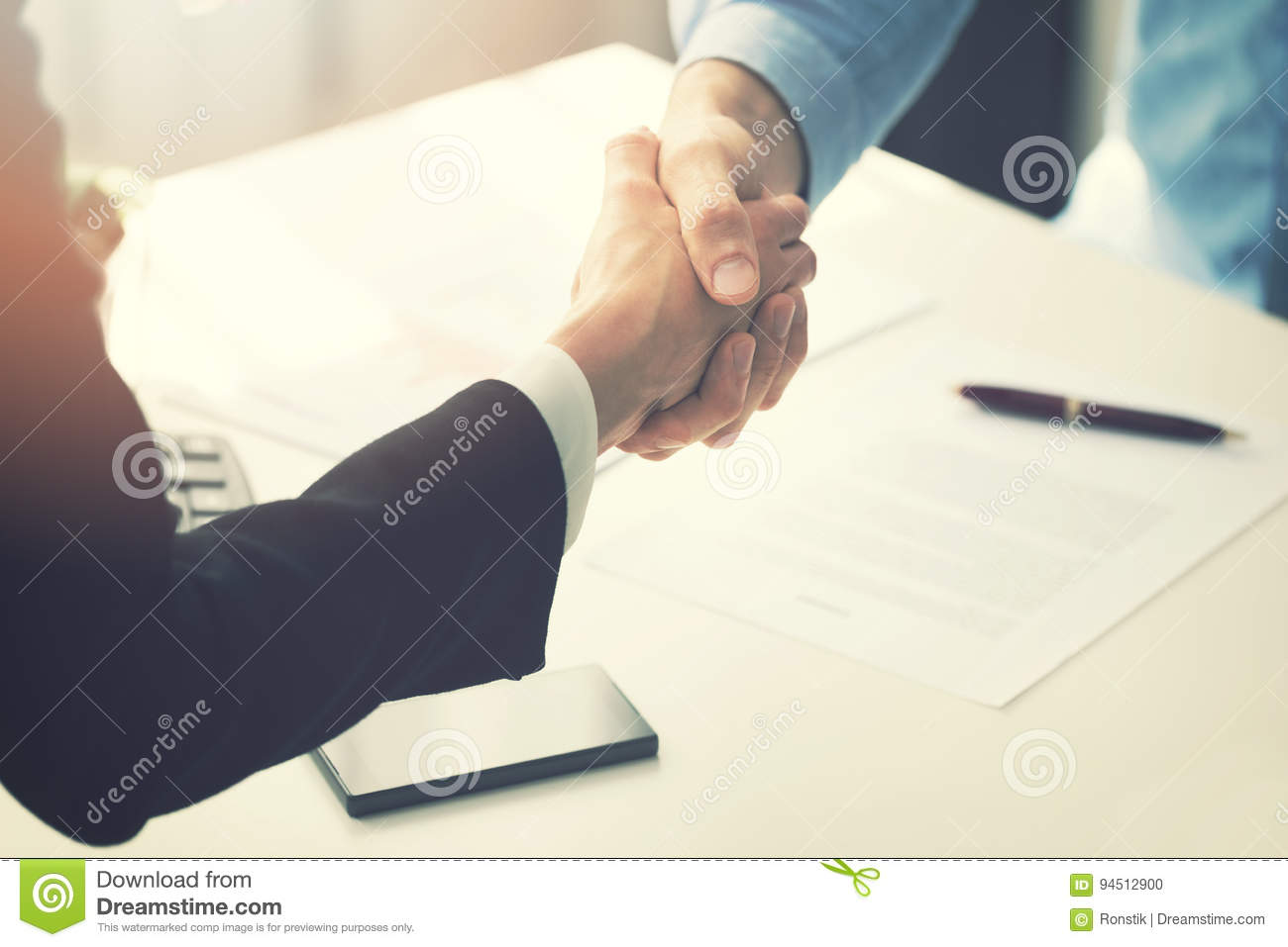 Download Business People Handshake After Partnership Contract Signing Stock Photo - Image of people, closeup: 94512900