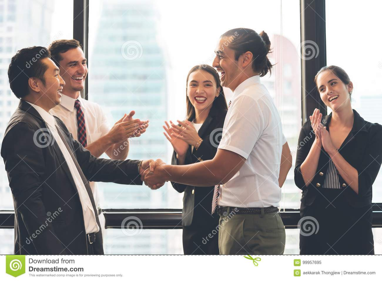 Business People Handshaking after greeting deal