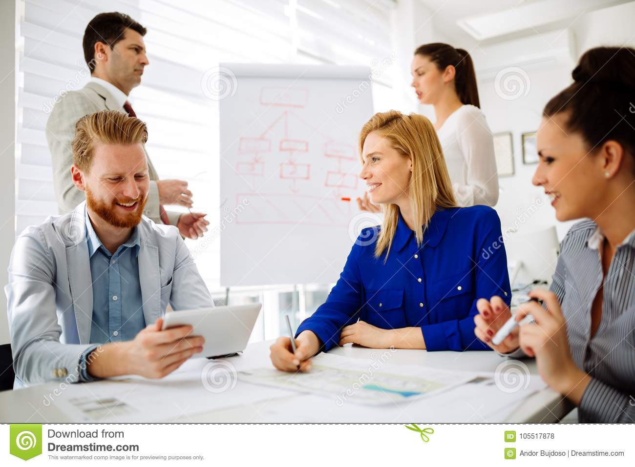 Business people having a board meeting