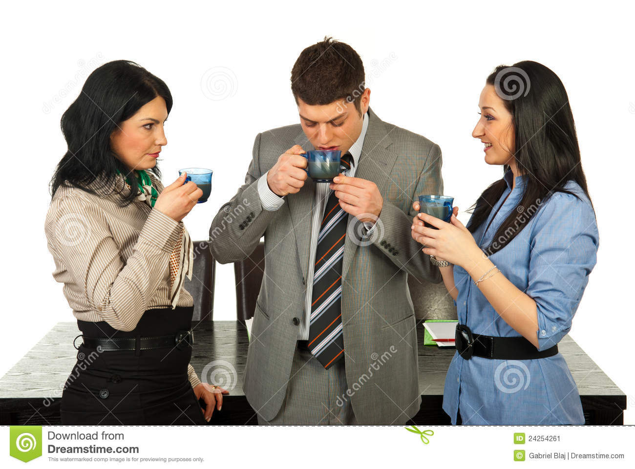 Business People Having Coffee Break Stock Image - Image ...