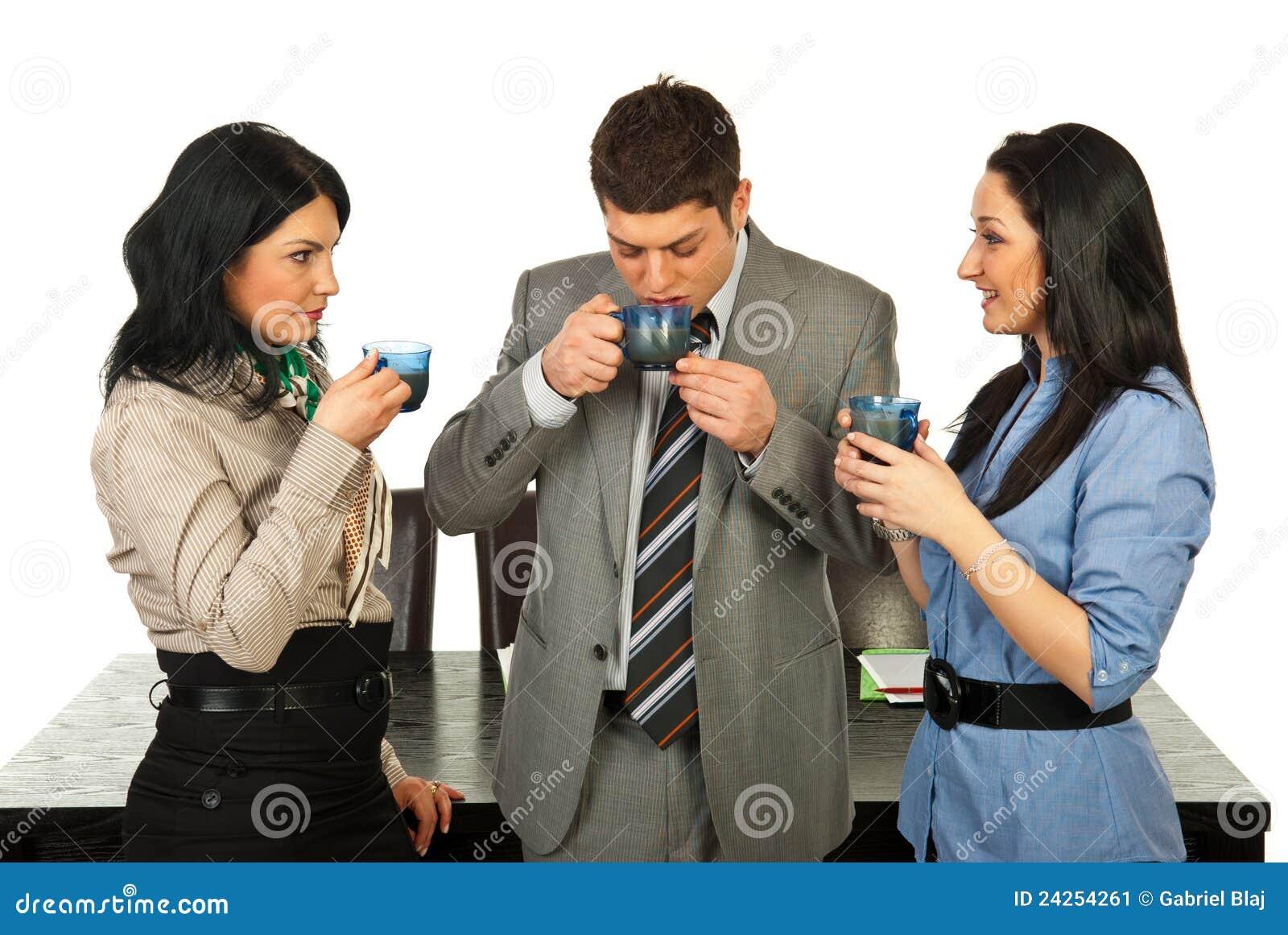 Business People Having Coffee Break Stock Image - Image ...