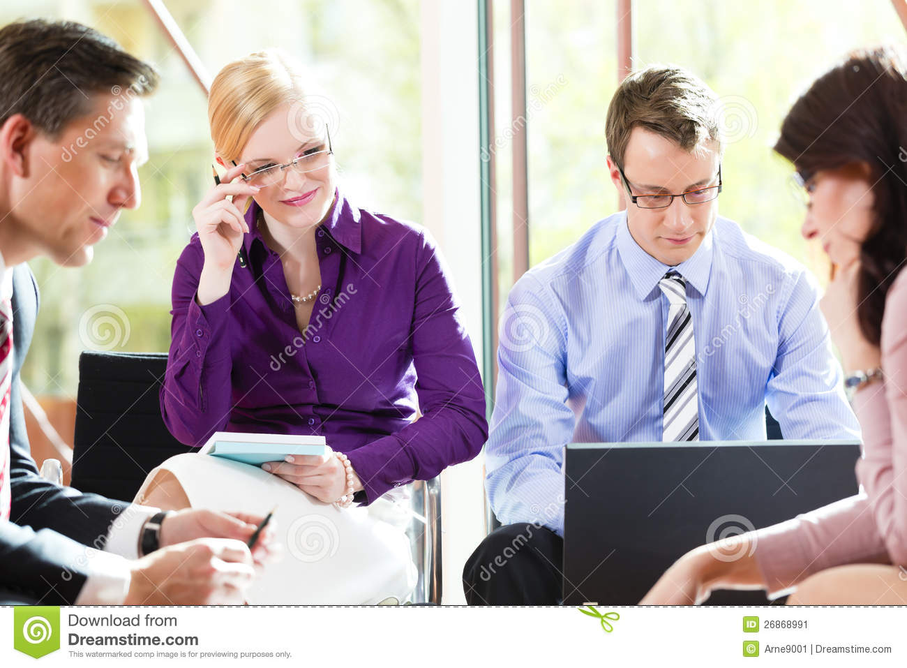 Business People Having Meeting In Office Stock Image ...