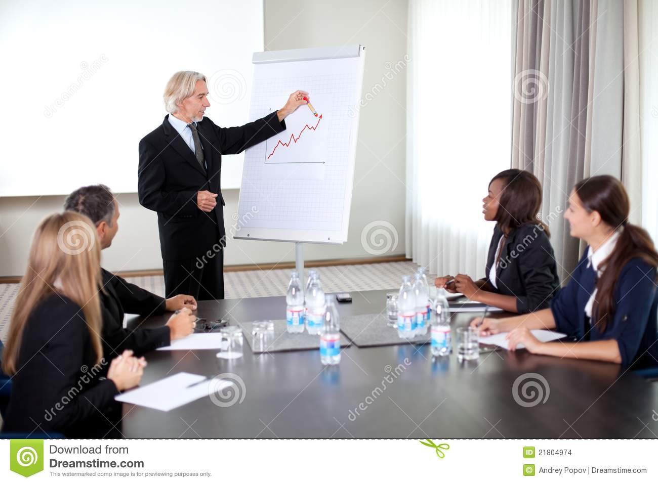 office meeting. Business People Holding A Conference At The Office Meeting E