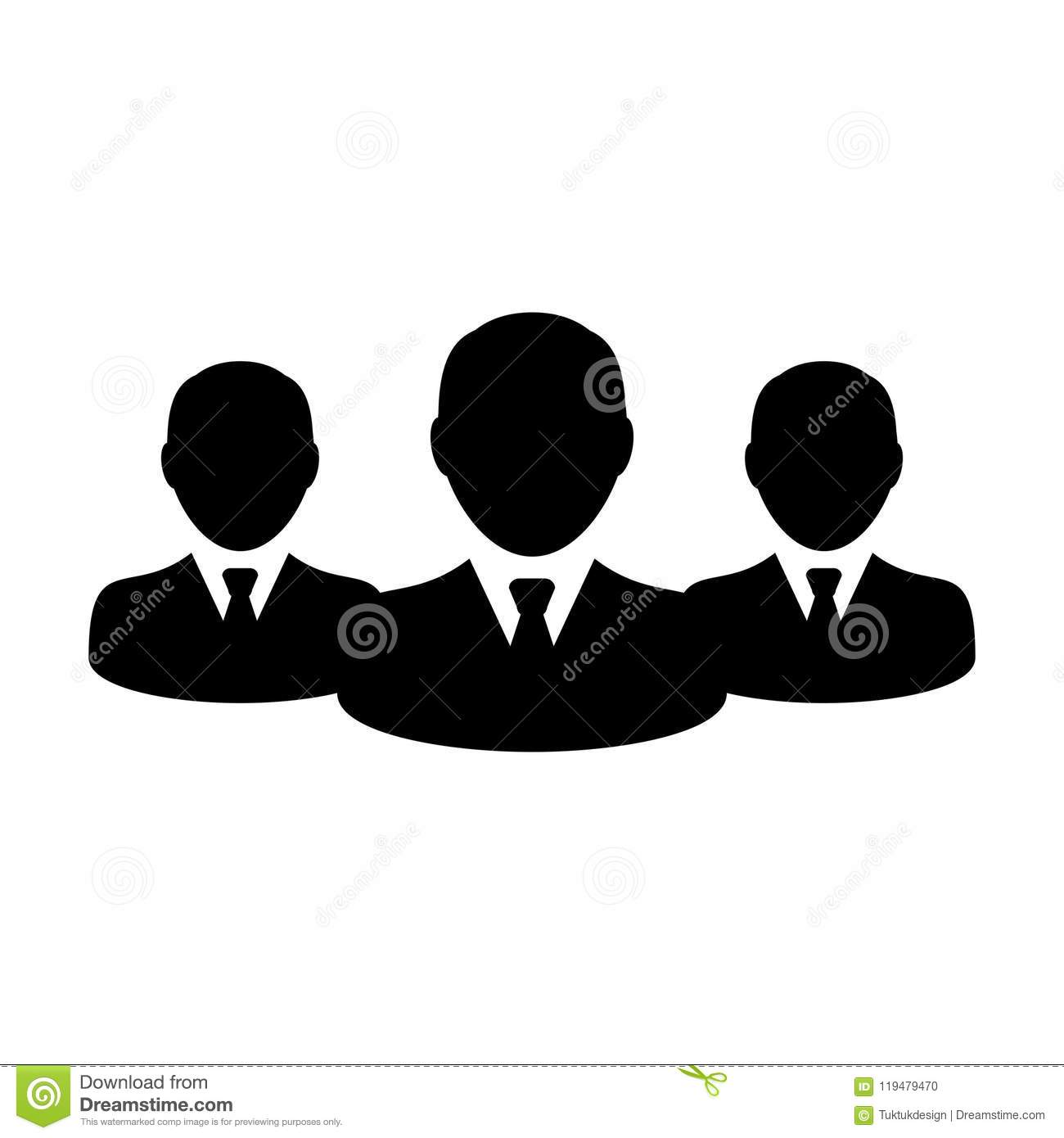 Business People Icon Vector Male Group Of Persons Symbol Avatar For