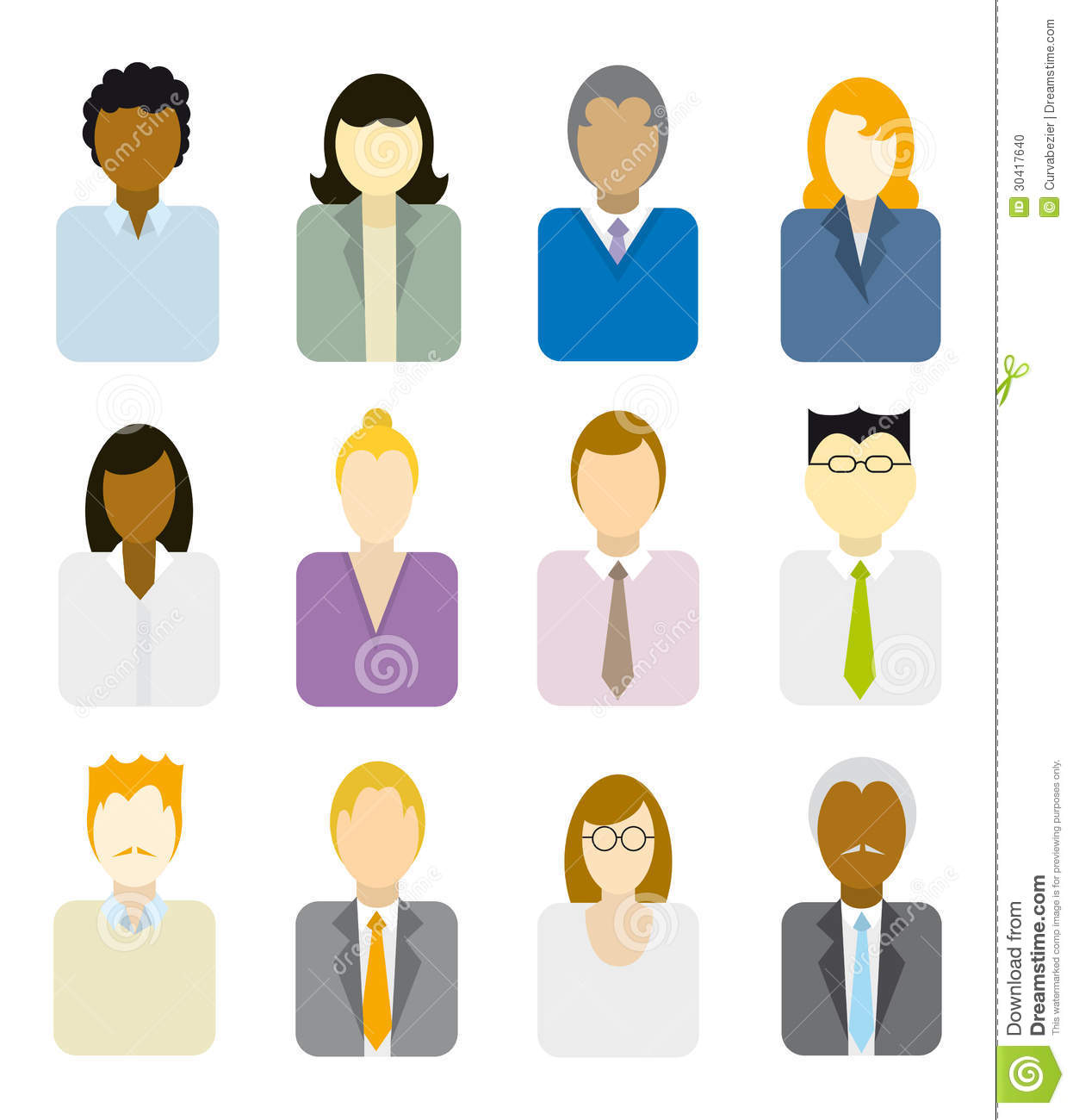 Business People Icons Stock Photo - Image: 30417640