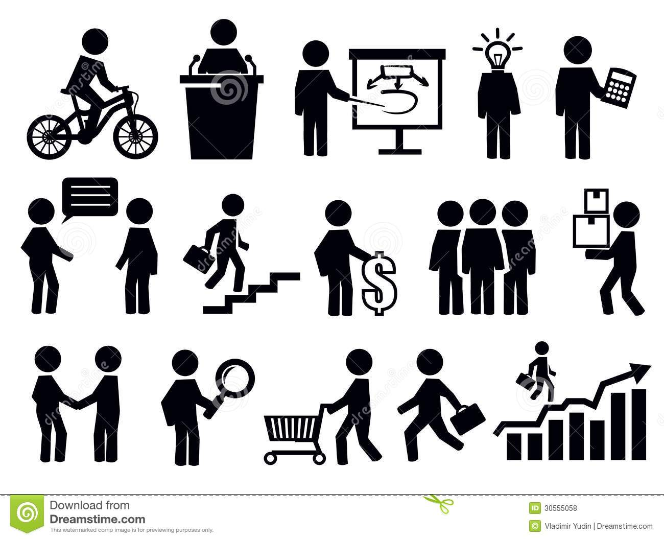 Business People Icons Royalty Free Stock Photos - Image: 30555058