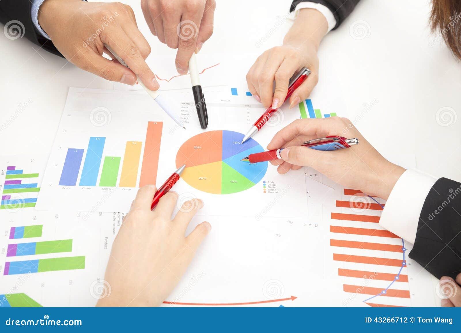 Explaining Business Chart Royalty-Free Stock Photography ...