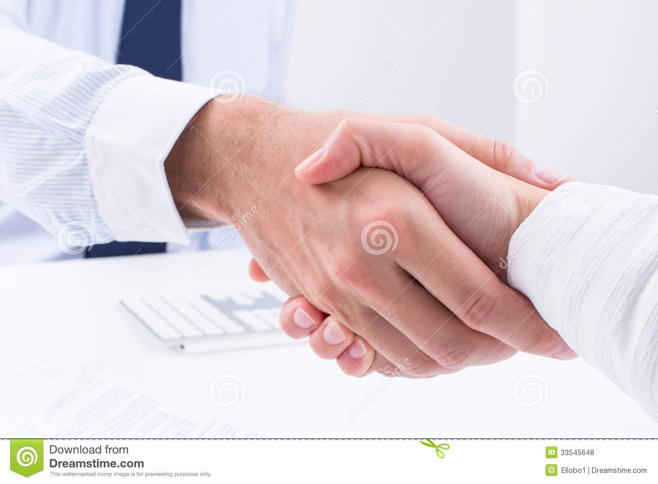 business people make a deal stock photo image 33545648