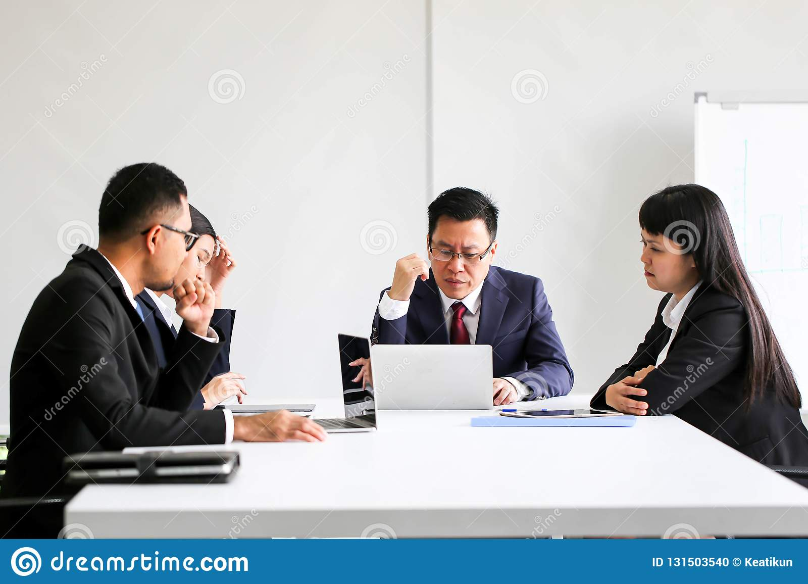 Business People Meeting Communication Discussion Working Office ,Meeting Corporate Success Brainstorming Teamwork Concept