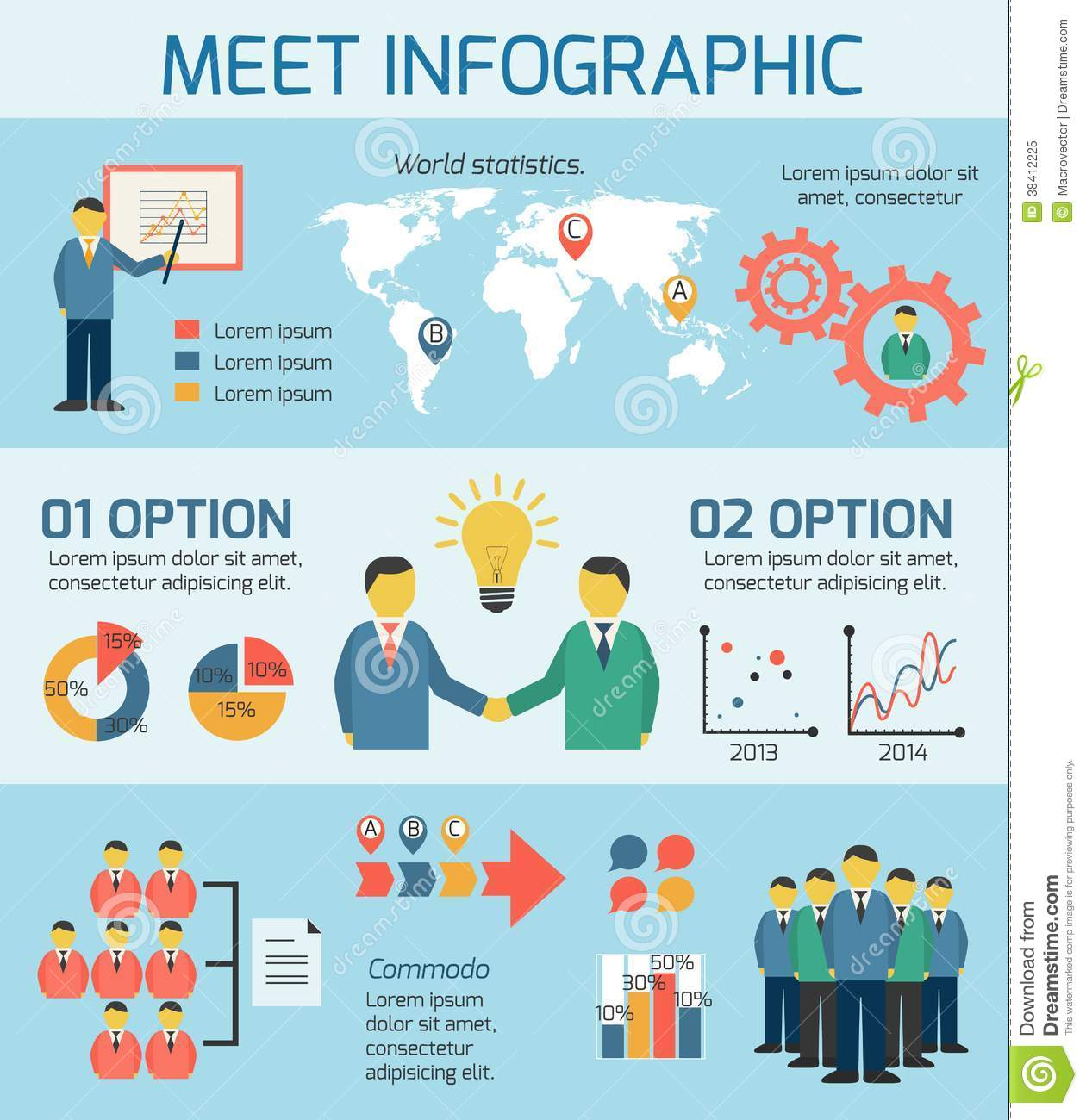 Business People Meeting Infographics Royalty Free Stock ...