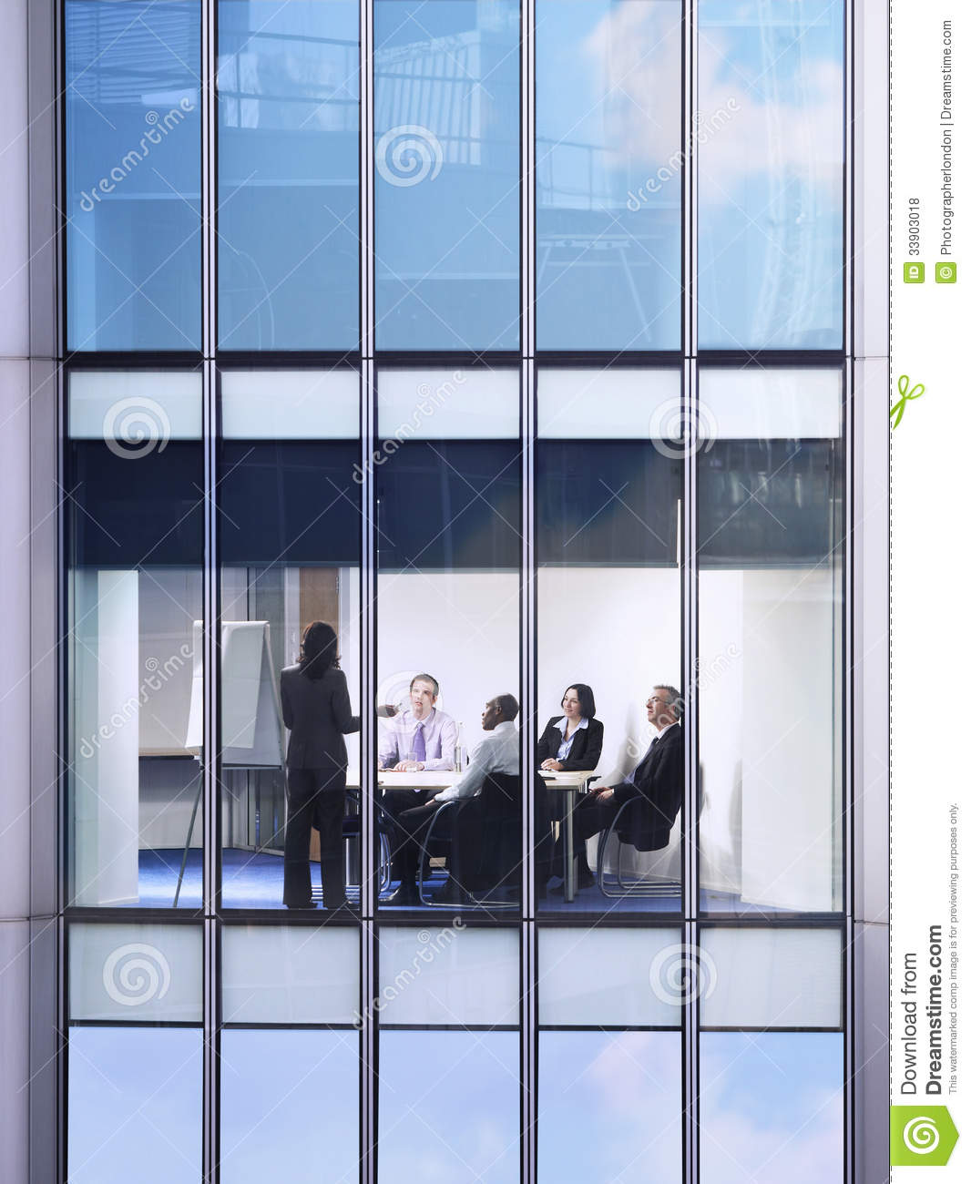 Business People At Meeting In Office Stock Photo Image