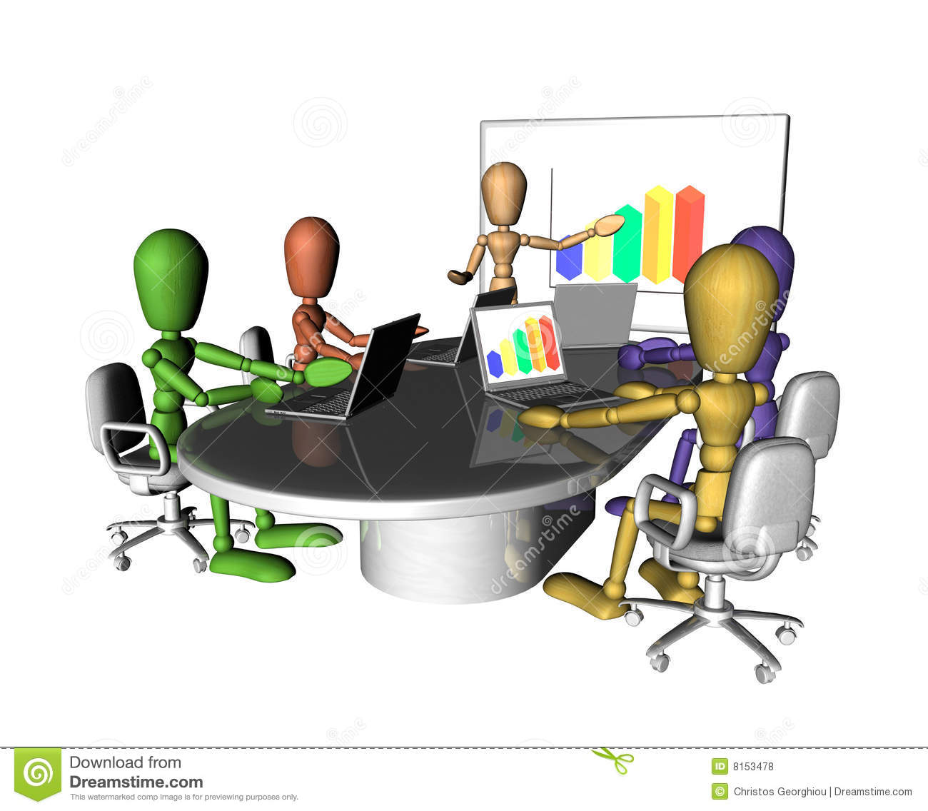 Business People Meeting Presentation Stock Illustration