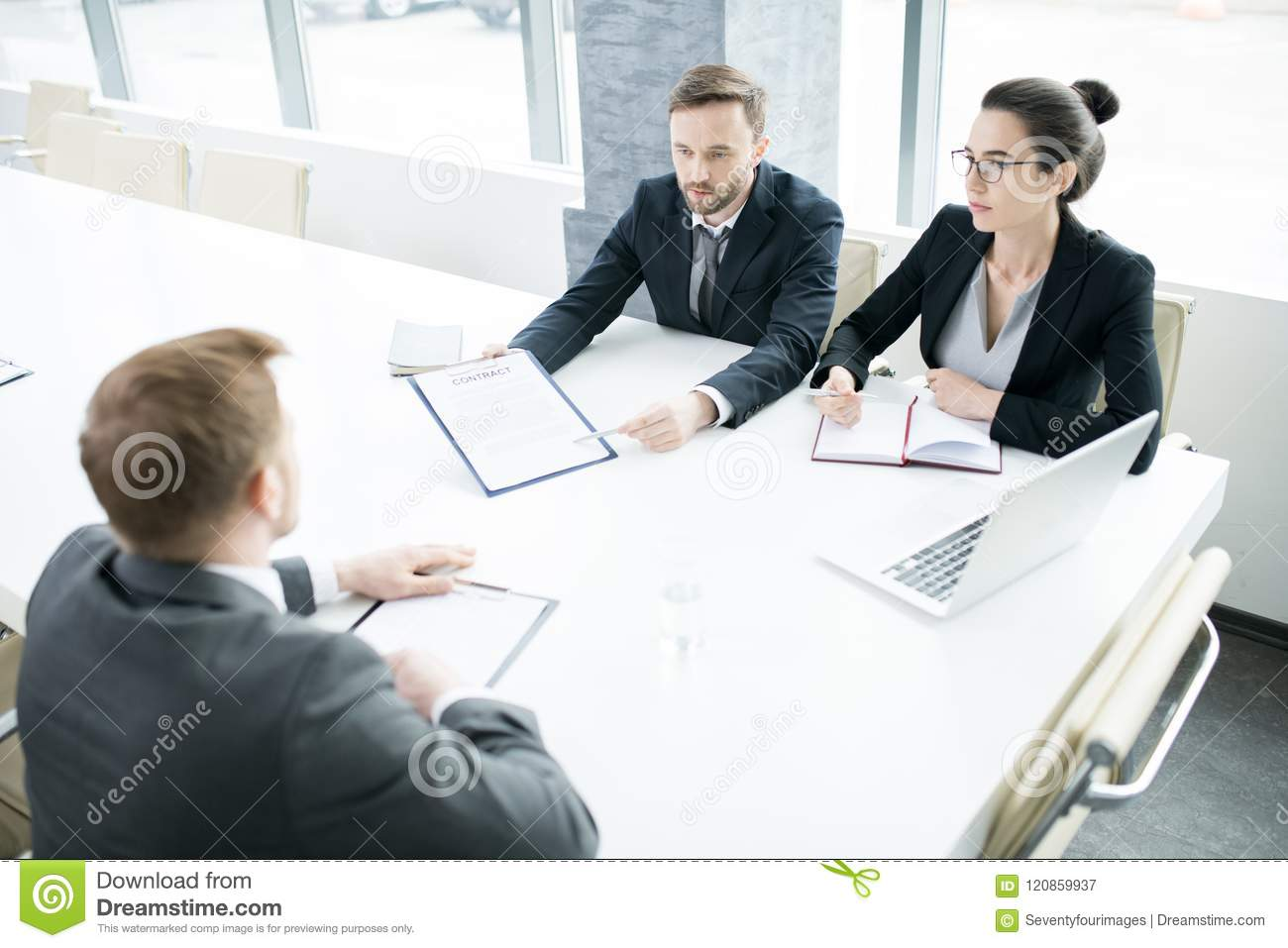 Business People At Meeting Table Stock Image Image Of