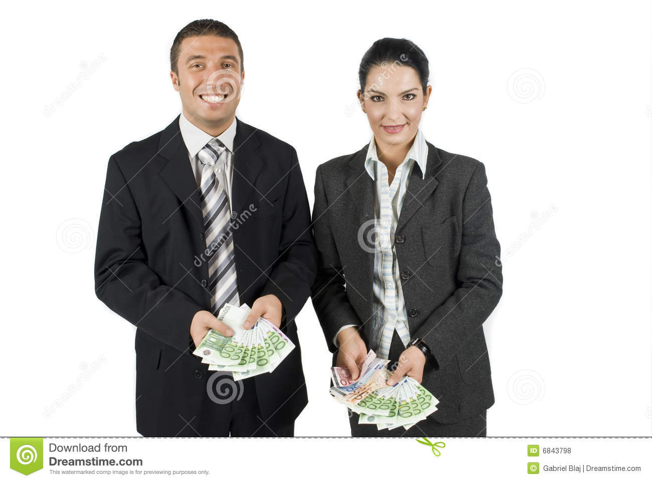 Business people with money