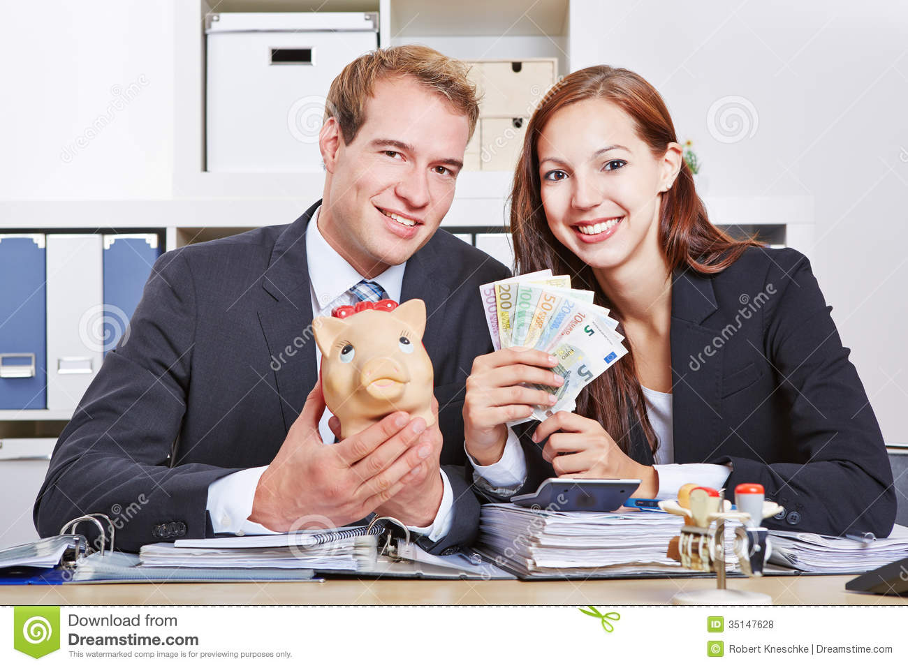 Business People With Money Royalty Free Stock Photos ...