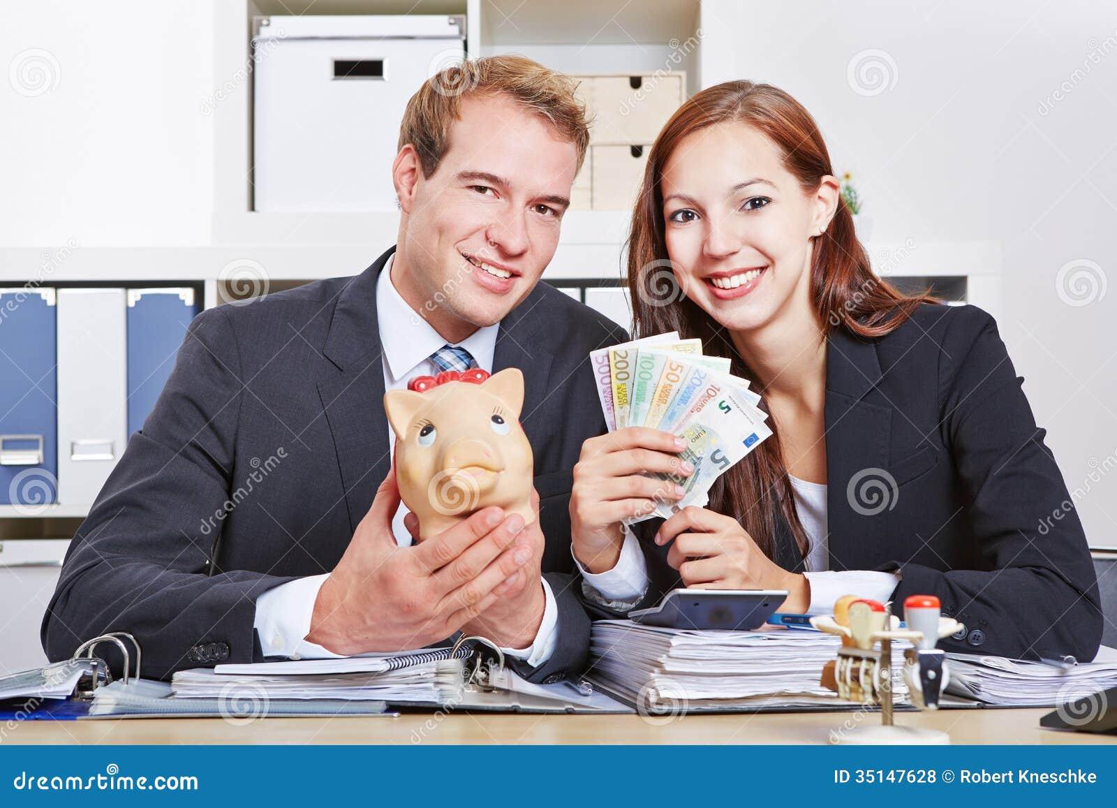 Business People With Money Stock Photo Image Of Employee