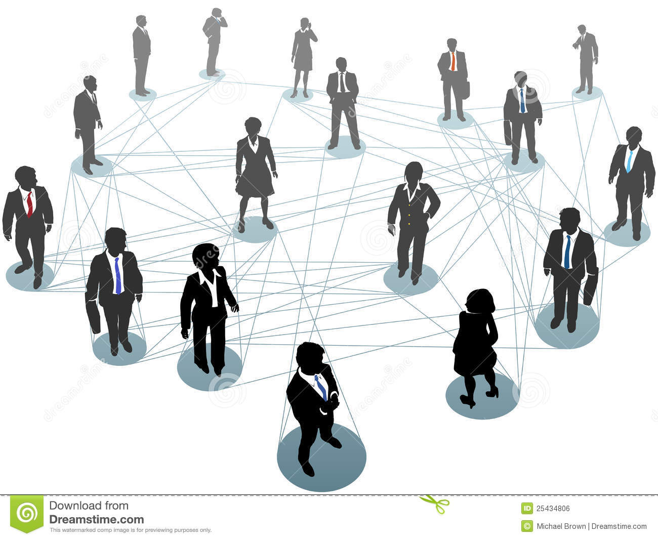 Business People Network Connection Nodes Royalty Free ...