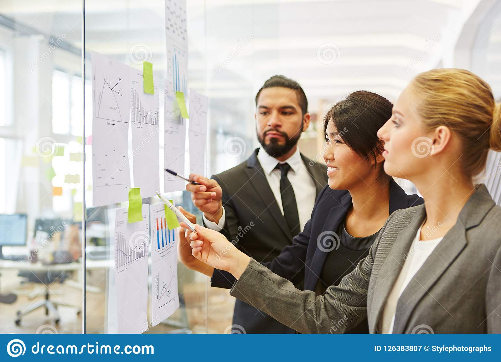 Business people planning business strategy