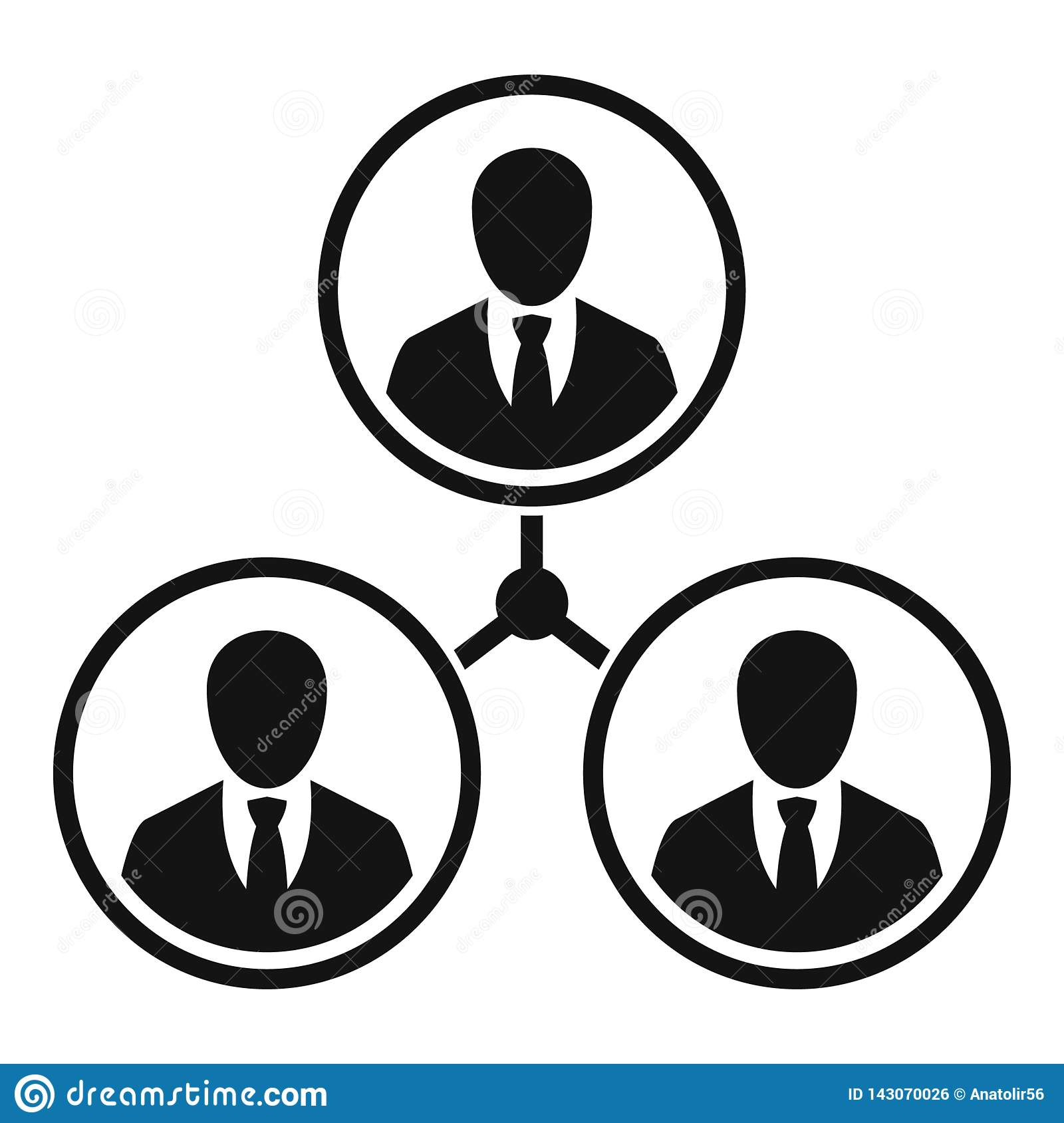Business people relation icon, simple style