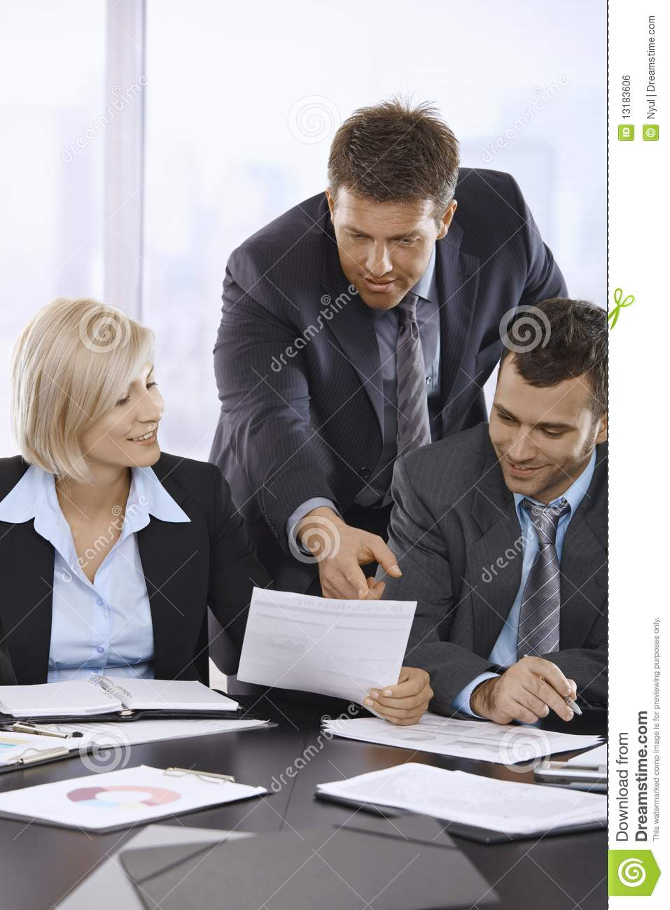 Business People Reviewing Documents Royalty Free Stock