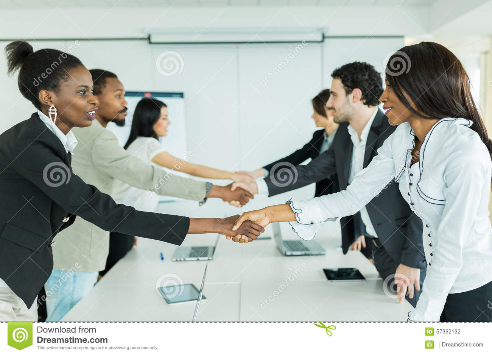 Business people handshake greeting deal at work photo free download - Business Greeting Hands People Handshake