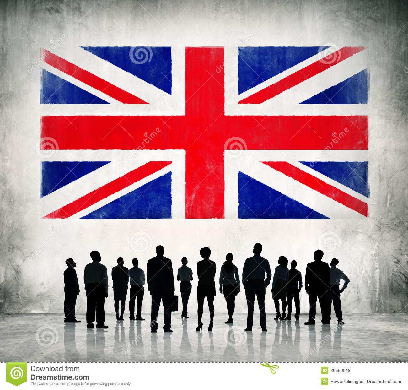 Business People Standing Infront Of The UK Flag Stock ...