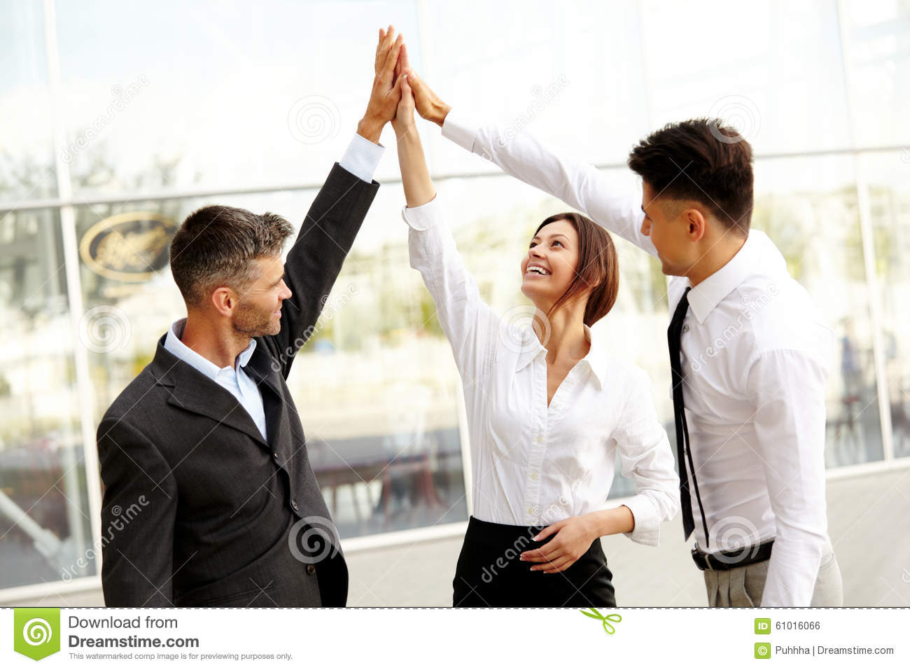 Business People. Successful Team Celebrating a Deal