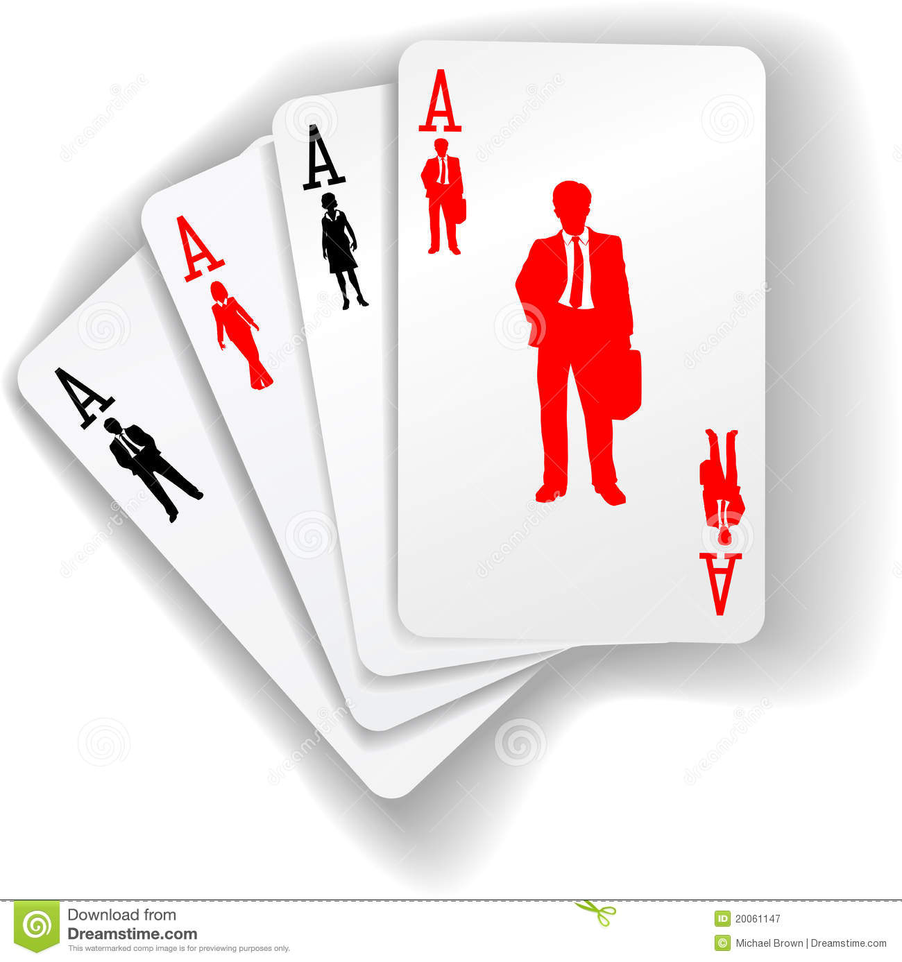 Business People Suits Resources Playing Cards Stock Vector ...