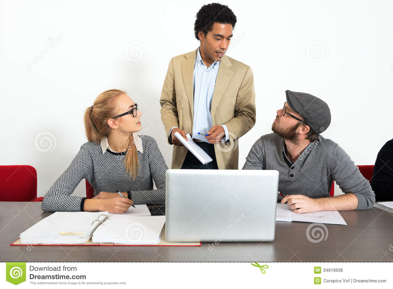 Business People Talking In Office Royalty Free Stock