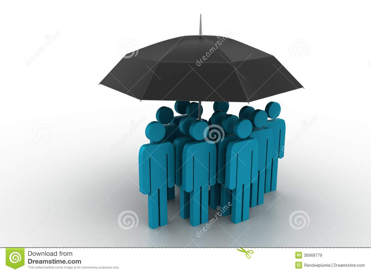 Business People Under An Umbrella Royalty Free Stock